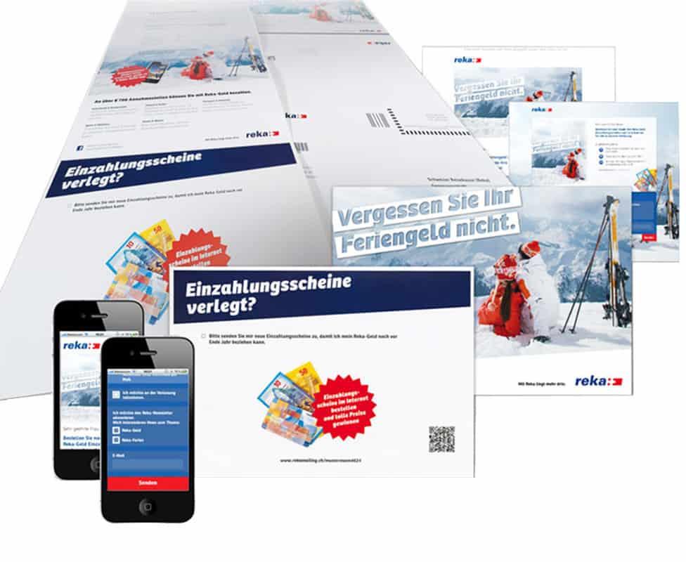 Dialogmarketingkampagne für die Schweizer Reisekasse (Reka)