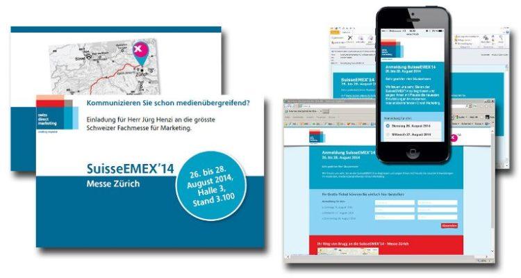 Multichannel Einladungskampagne für die Suisse EMEX
