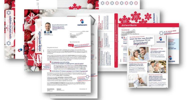 Selfmailer zur Neukundengewinnung für Swisscom TV 2.0