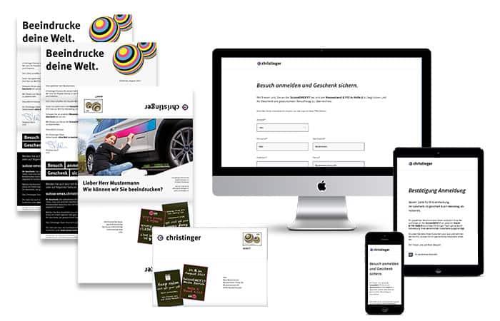 Mit der massgeschneiderten Einladungskampagne in Print und Online wurden Kunden über verschiedene Kanäle angesprochen ─ Print, Mobile, Web, E-Mail ─ und dies immer personalisiert.