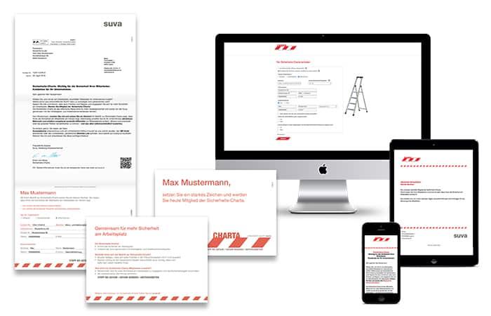 Mit der massgeschneiderten Leadskampagne in Print und Online wurden Versicherte über verschiedene Kanäle angesprochen ─ Print, Mobile, Web, E-Mail ─ und dies immer personalisiert.