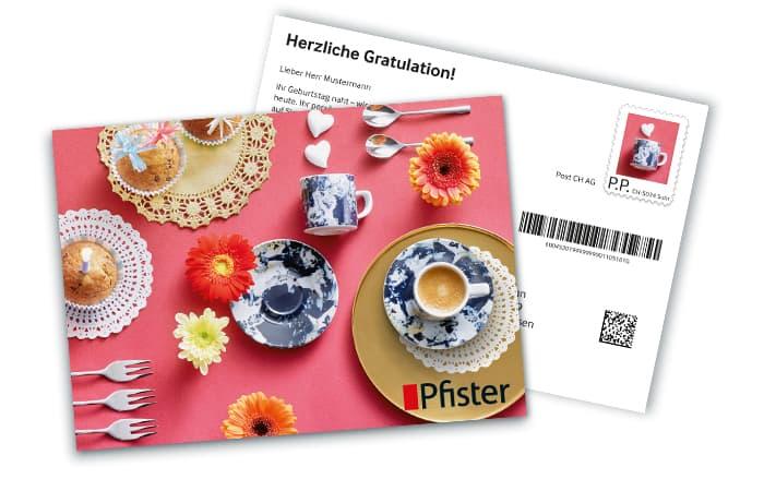 Die klassische Postkarte eignet sich hervorragend für Glückwünsche