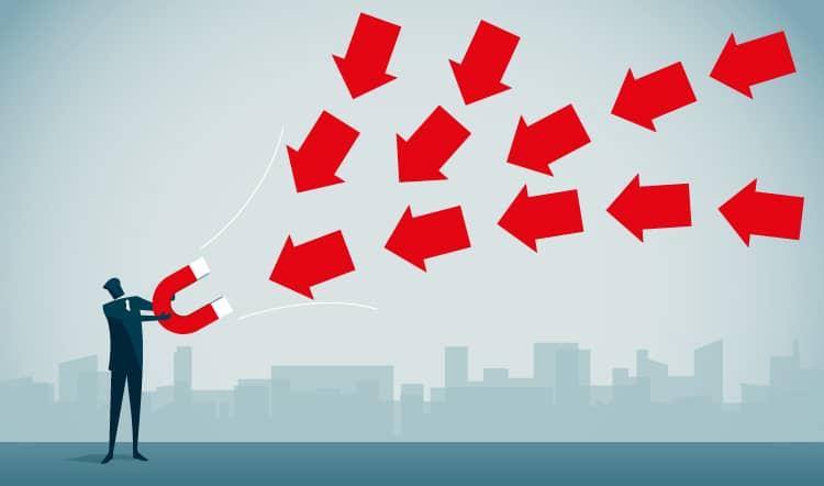Grafische Abbildung mit Inbound Marketing Leads generieren