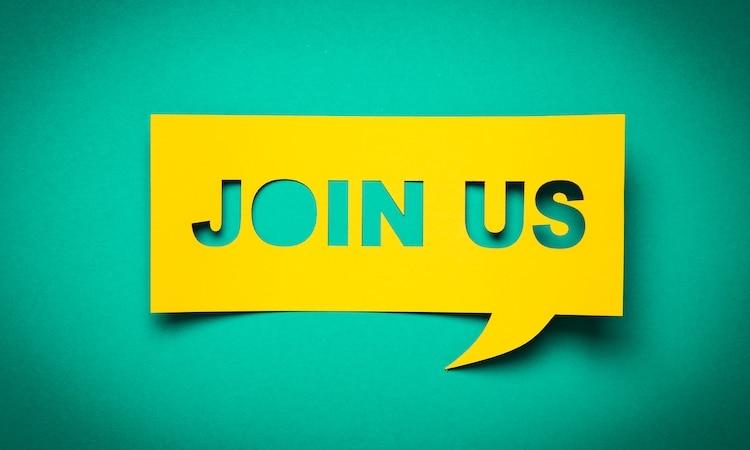 """Employer Branding Sprechblase """"Join us"""""""